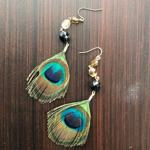 Jewelry - Peacock Feather Earrings